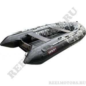 Моторная лодка Хантер 380ПРО НДНД камуфляж