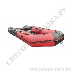 Моторная лодка Хантер 365ЛКА серый камуфляж (стационарный транец, НДНД)