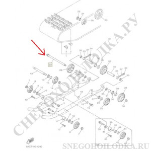 Ось подвески Ямаха Викинг 540 3 8JN-47520-00-00