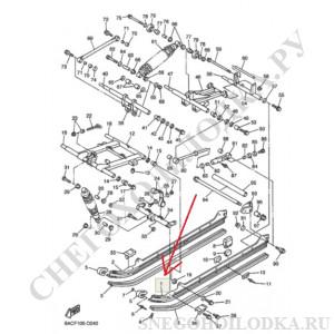 № 1 Алюминиевый полоз трака Ямаха Викинг 540 3 (левый)  8AC474111000