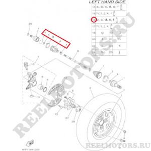 Пыльник шруса передний внешний Гризли 550/700