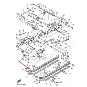 № 2 Алюминиевый полоз трака Ямаха Викинг 540 3 (левый)  8AC474141000