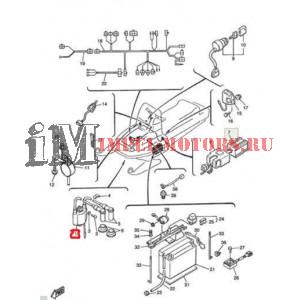 На схеме 1. Катушка зажигания для Ямаха Викинг 540 (аналог)