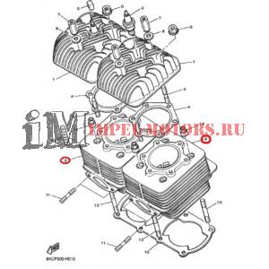 Цилиндр двигателя Ямаха VK540 III-IV