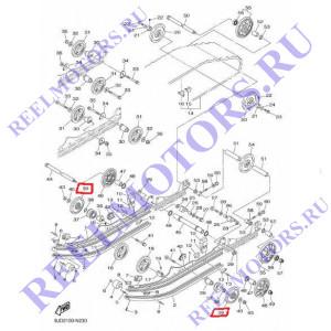 Ролик подвески Ямаха VK540 IV